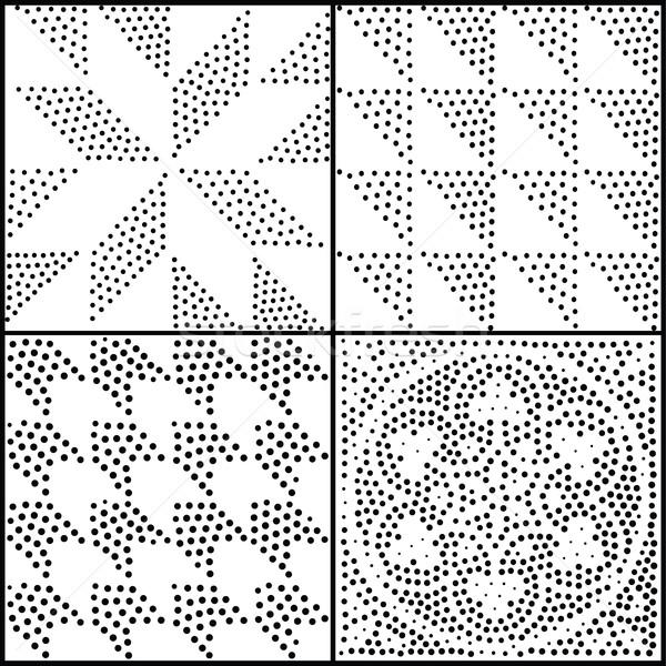 Vektör soyut geometrik siyah beyaz Stok fotoğraf © softulka