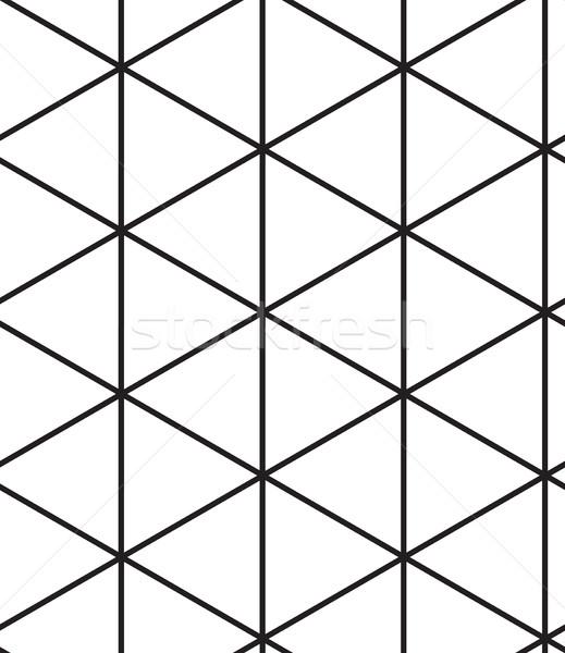 Wektora nowoczesne liniowy geometryczny tekstury Zdjęcia stock © softulka