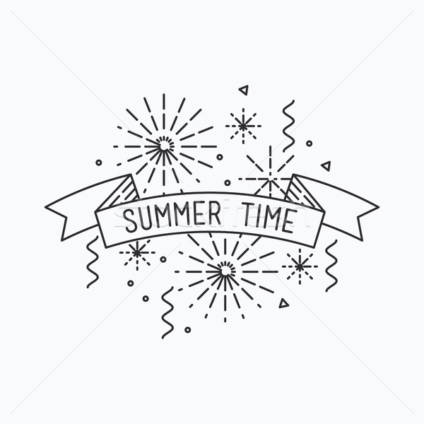 Summer time. Inspirational vector illustration Stock photo © softulka