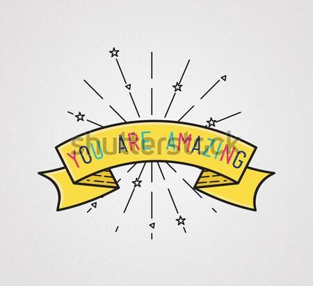 Can ilham verici örnek motivasyon tırnak işareti Stok fotoğraf © softulka