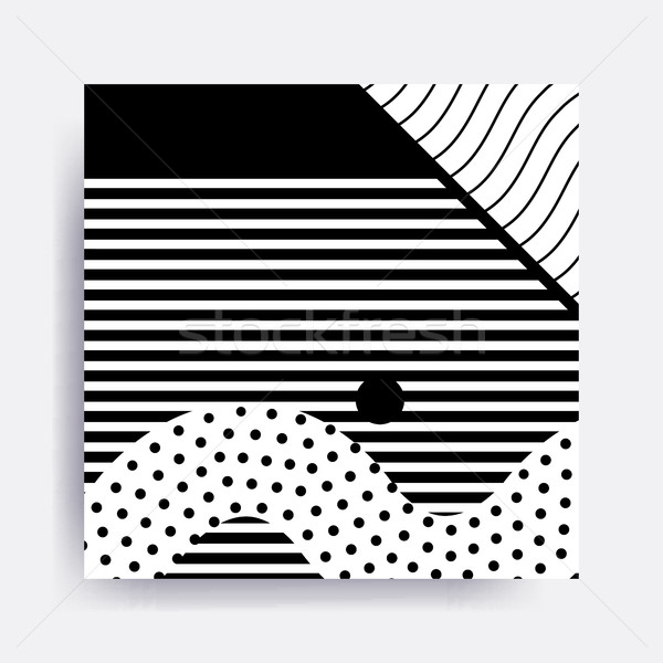 black and white Neo Memphis geometric pattern  Stock photo © softulka