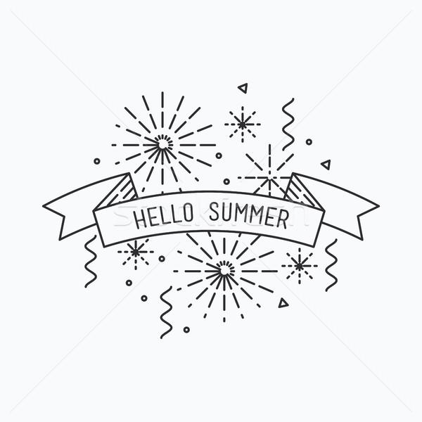 Hello summer. Inspirational vector illustration Stock photo © softulka