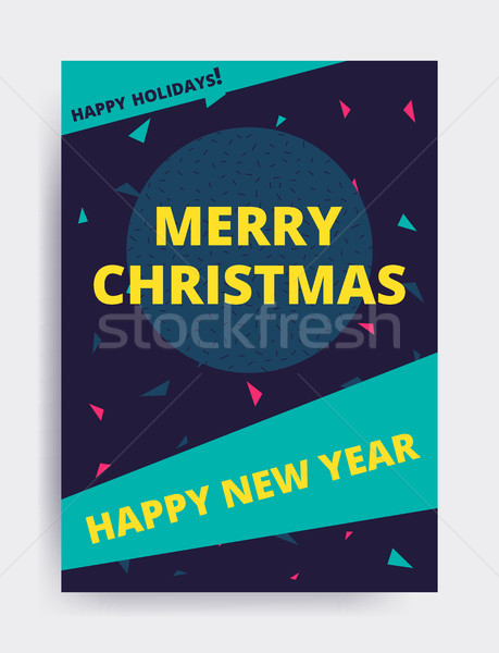 Neşeli Noel yılbaşı dizayn göz afiş Stok fotoğraf © softulka