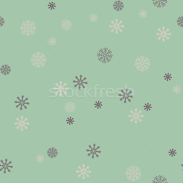 Kar tanesi tatil hediyeler soyut dizayn Stok fotoğraf © softulka