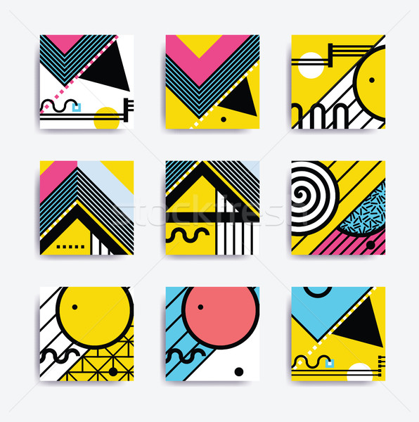 Colorful minimalistic geometric design Stock photo © softulka