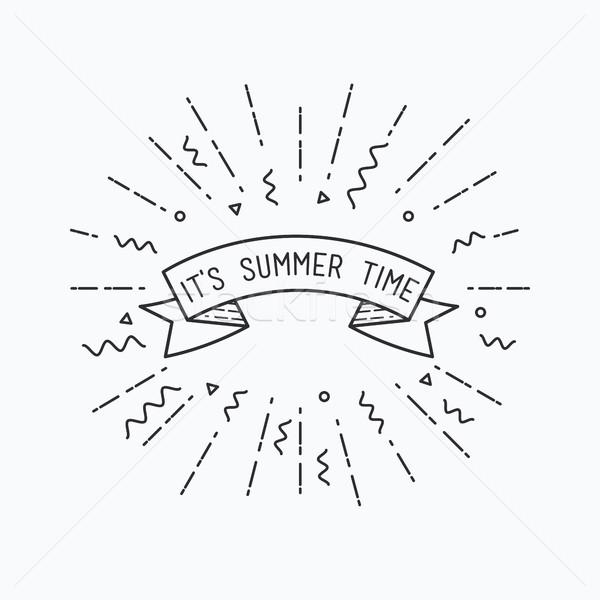 Yaz zaman ilham verici motivasyon tırnak işareti Stok fotoğraf © softulka