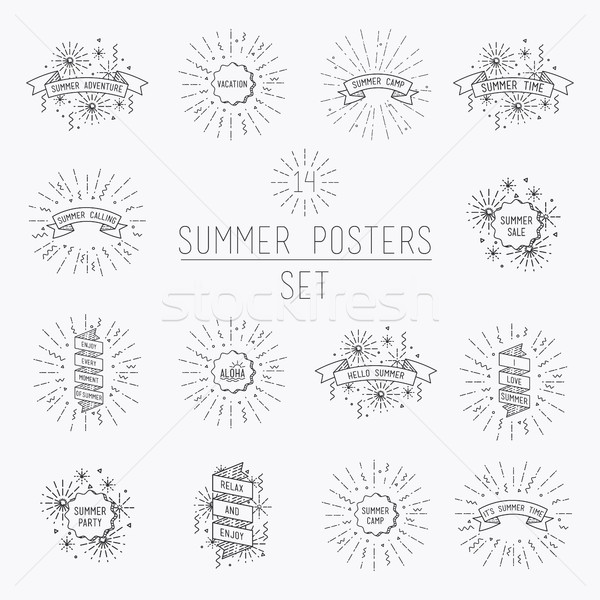 Collection of universal summer posters Stock photo © softulka
