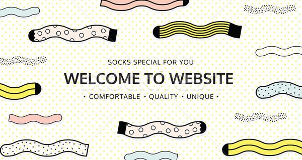 Benvenuto sito calze shop colore e-mail Foto d'archivio © softulka