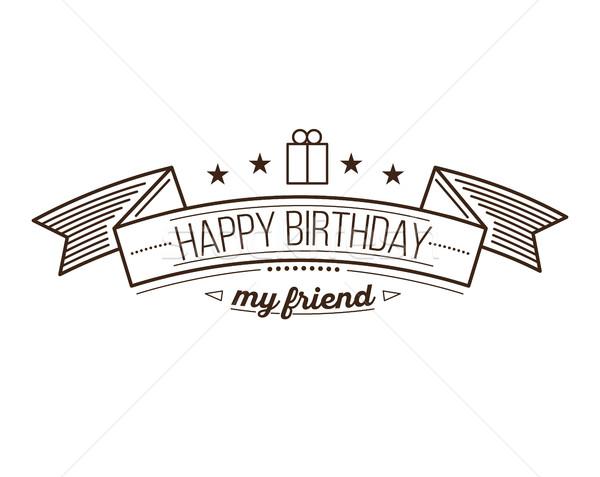 Festive Happy Birthday Stock photo © softulka