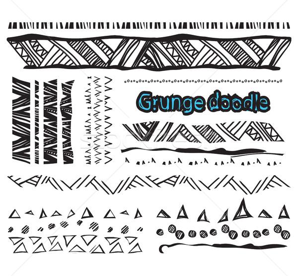 Set grunge linee scarabocchi elementi Foto d'archivio © softulka