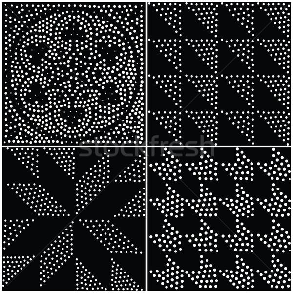 Vector abstract geometric seamless pattern. Repeating gradation  Stock photo © softulka