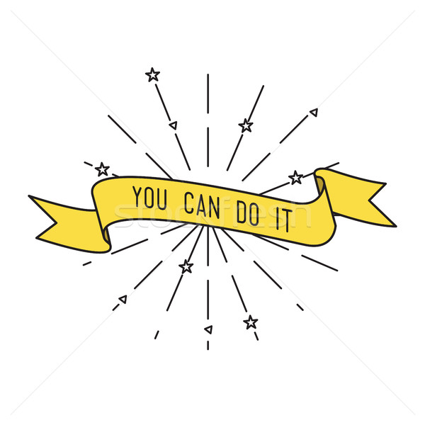 You can do it. Inspirational vector illustration, motivational quotes flat Stock photo © softulka