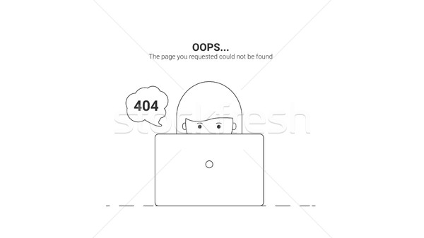 Day web master. Oops Error 404 Stock photo © softulka
