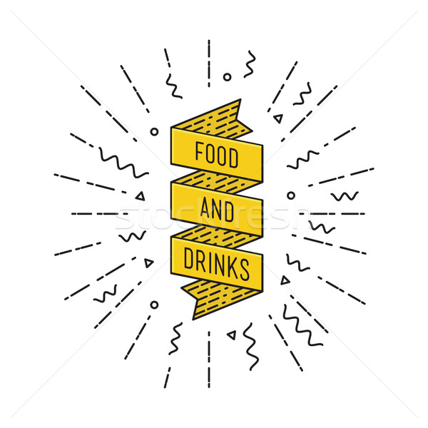 Alimentos bebidas motivacional comillas anunciante Foto stock © softulka