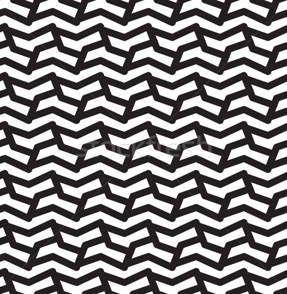 Arabic pattern abstract bianco nero Foto d'archivio © softulka