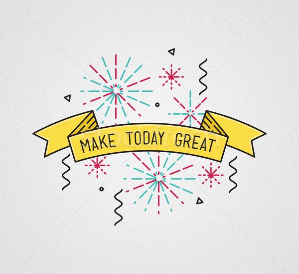 Hoje inspirado ilustração motivacional Foto stock © softulka
