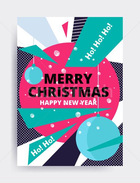 веселый Рождества Новый год дизайна глаза баннер Сток-фото © softulka