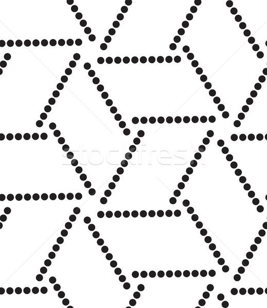Vektör modern geometrik doku Stok fotoğraf © softulka