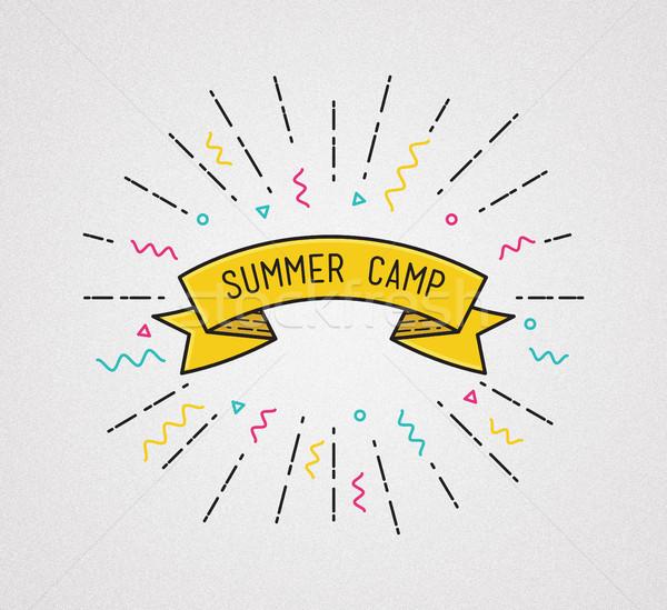 Yaz kampı poster dizayn ilham verici örnek motivasyon Stok fotoğraf © softulka