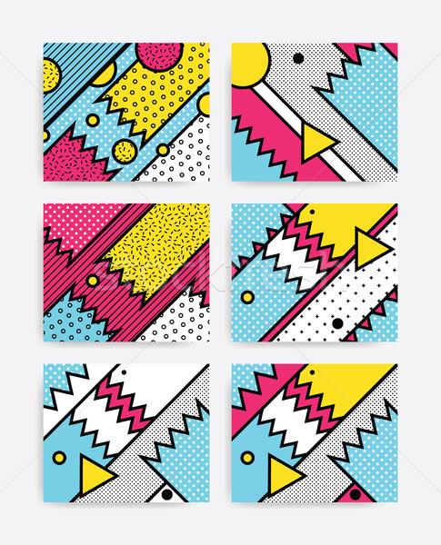 Colorful Pop art set Stock photo © softulka