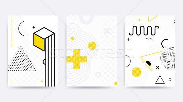 Colorato tendenza disegno geometrico set luminoso blocchi Foto d'archivio © softulka