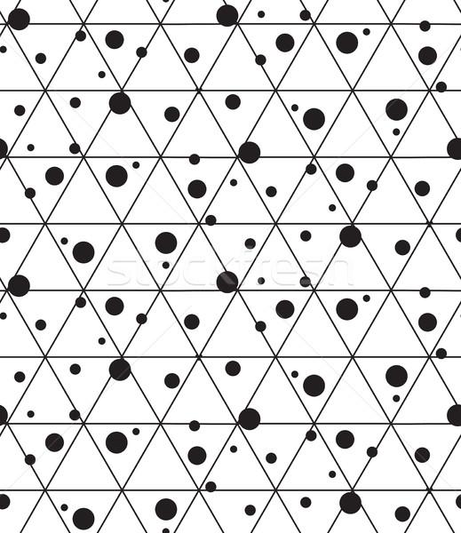ベクトル 現代 行 幾何学的な テクスチャ ストックフォト © softulka