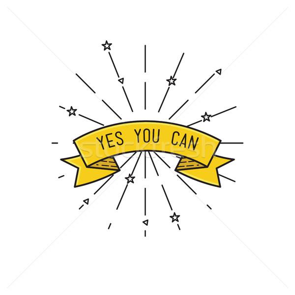 Evet can ilham verici motivasyon tırnak işareti poster Stok fotoğraf © softulka