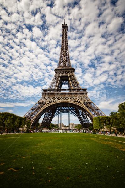 Eyfel Kulesi Paris Bina şehir Metal güzellik Stok fotoğraf © sognolucido