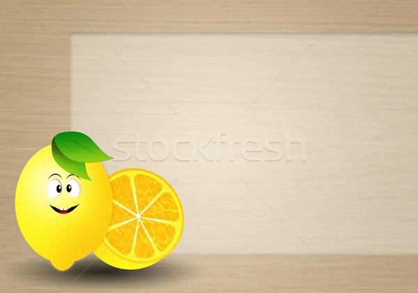 Funny lemon Stock photo © sognolucido