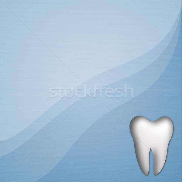 Zahnpflege Illustration Zahn Lächeln glücklich Medizin Stock foto © sognolucido