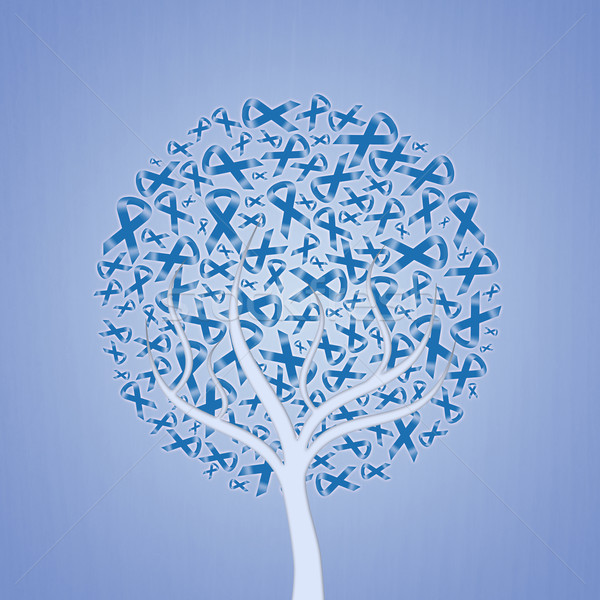 дерево синий иллюстрация природы дизайна Сток-фото © sognolucido