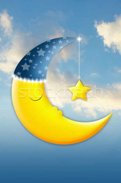 Sleeping moon  Stock photo © sognolucido
