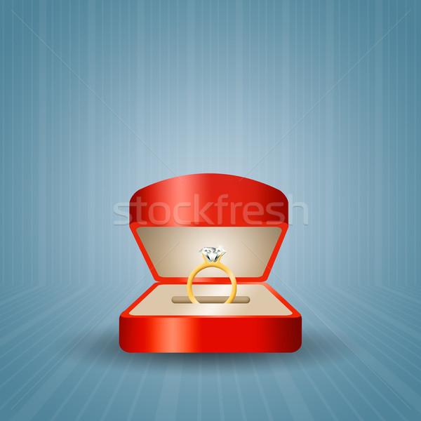 Eljegyzési gyűrű javaslat pár házasság házas feleség Stock fotó © sognolucido