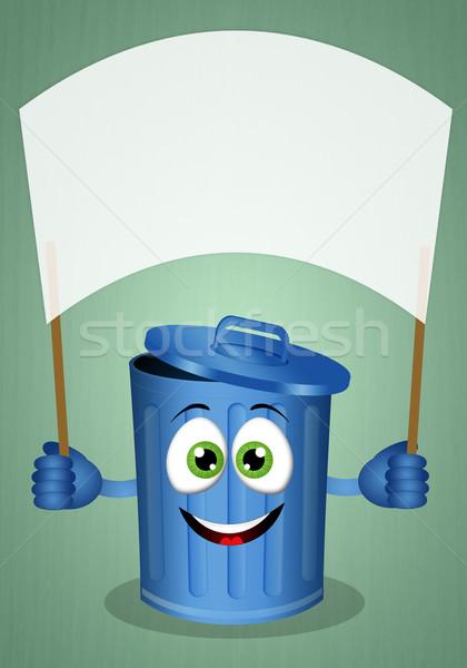Funny garbage bin Stock photo © sognolucido