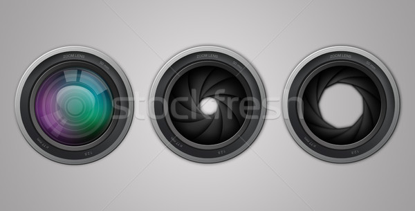 Camera lens Stock photo © sognolucido