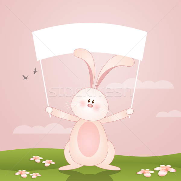 Funny bunny for Happy Easter Stock photo © sognolucido