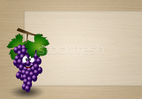 Funny grapes  Stock photo © sognolucido
