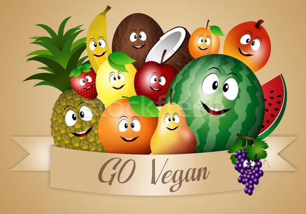 完全菜食主義者の 食品 面白い 果物 実例 ダイエット ストックフォト © sognolucido