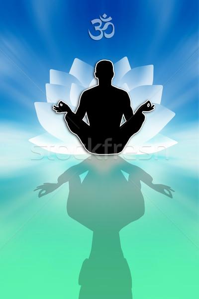 男 ヨガ 瞑想 実例 星 ストックフォト © sognolucido