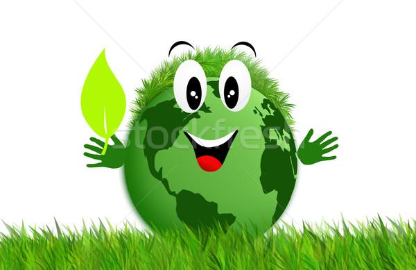 緑 地球 生態学 草 中心 世界 ストックフォト © sognolucido