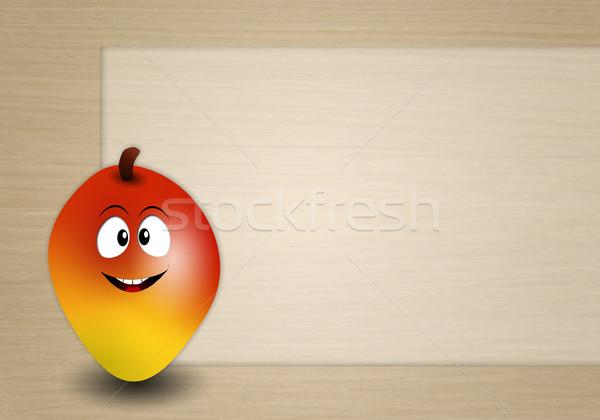 Engraçado manga ilustração comida fruto legumes Foto stock © sognolucido