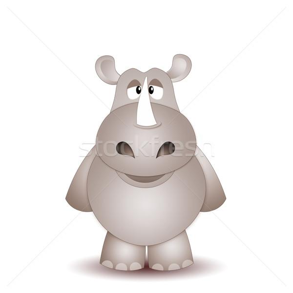 смешные Rhino иллюстрация природы африканских Буш Сток-фото © sognolucido