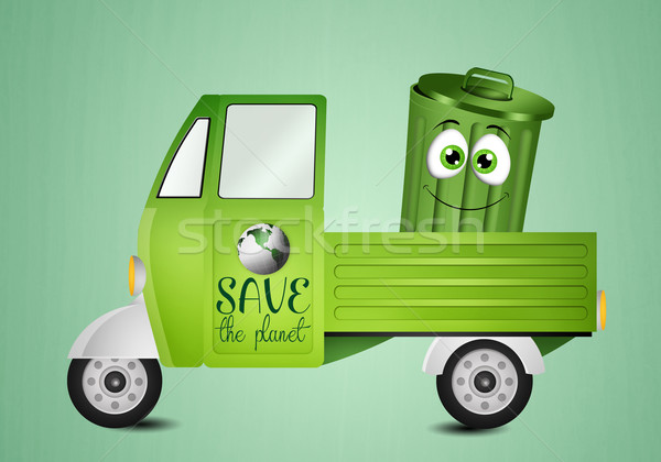 Garbage bin for Recycle Stock photo © sognolucido