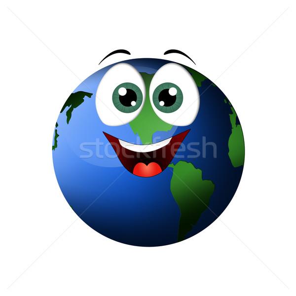 смешные земле иллюстрация белый мира весело Сток-фото © sognolucido