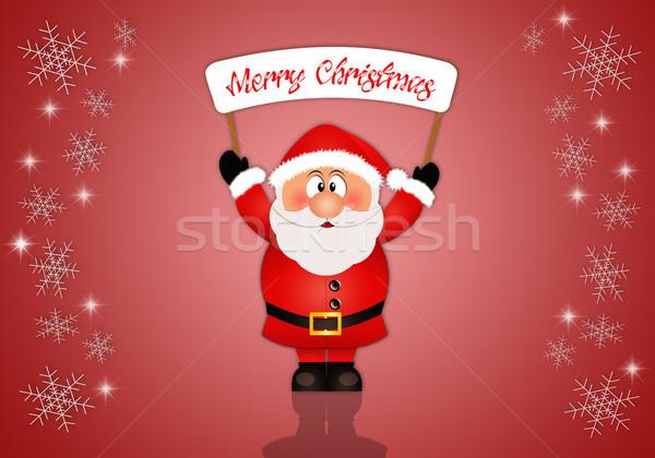 サンタクロース 陽気な クリスマス はがき 雪 ストックフォト © sognolucido