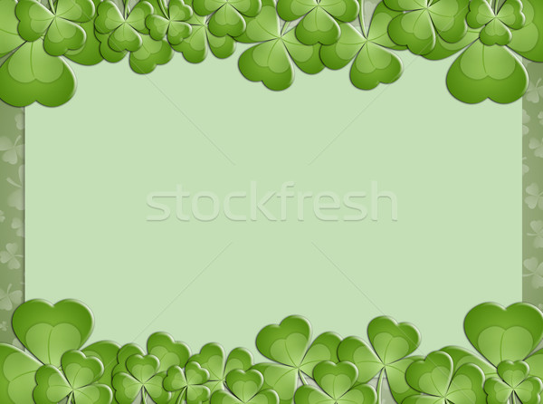 background with clovers for St. Patrick's Day Stock photo © sognolucido