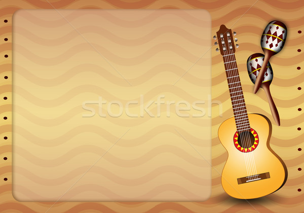 Guitar and maracas for Mariachi Stock photo © sognolucido