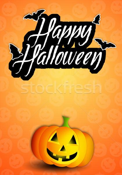 Szczęśliwy halloween hat uroczystości witch Zdjęcia stock © sognolucido