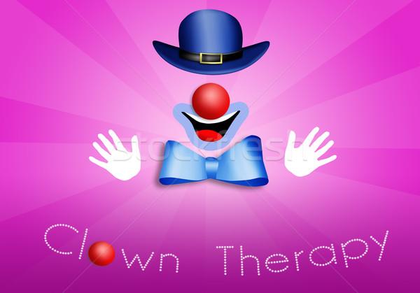 Clown terapii medycznych tle muzyka kolor Zdjęcia stock © sognolucido