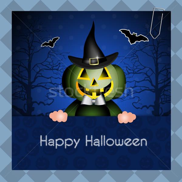 Szczęśliwy halloween hat uroczystości witch wakacje Zdjęcia stock © sognolucido